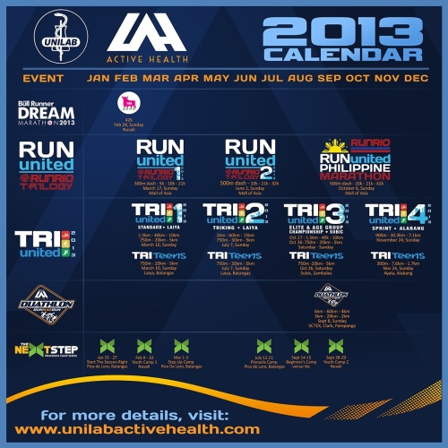 The Unilab Active Health 2013 Multisport Calendar